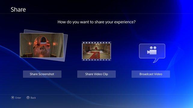 Jederzeit im Spielgeschehen fertigt ihr Bildschirmfotos, Videos oder Streams an.