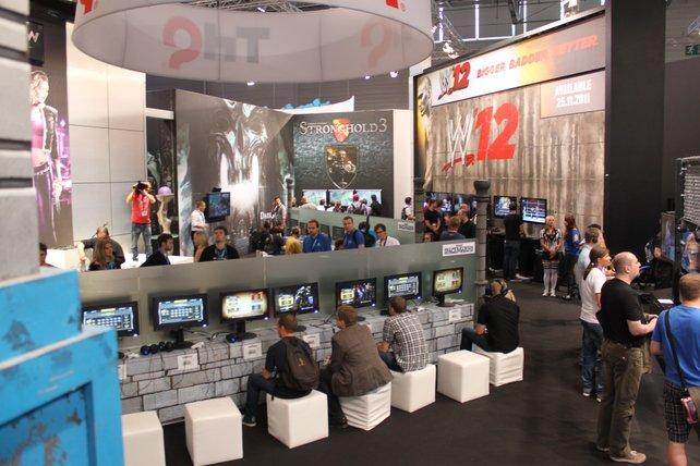 gamescom: Spielmöglichkeiten, wohin das Auge blickt.