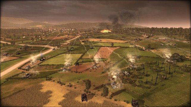 Schwere Panzer verfügen über eine hohe Feuerreichweite.
