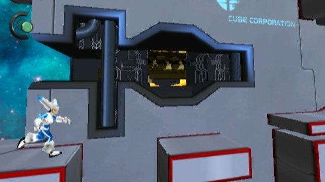 Schwerkraft spielt bei Aya und ihren Lichtwürfel keine große Rolle.