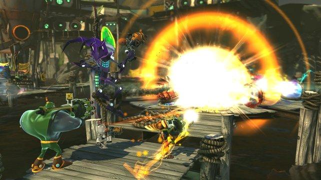 Gemeinsam könnt ihr mächtige Explosionen auslösen!