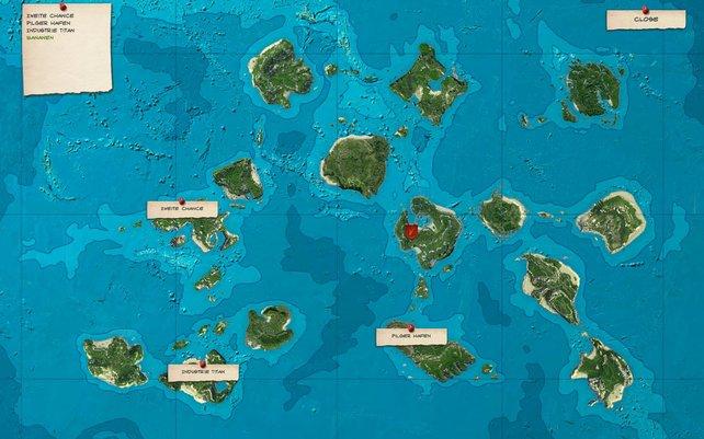 Auf dieser Karte wählt ihr eure nächste Mission aus.