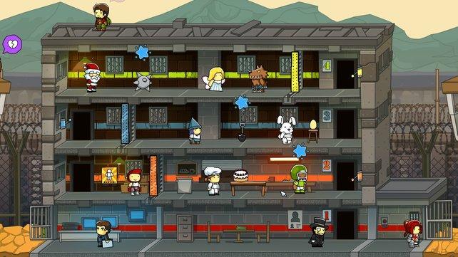 Ein typisches Gefängnis im Scribblenauts-Universum.