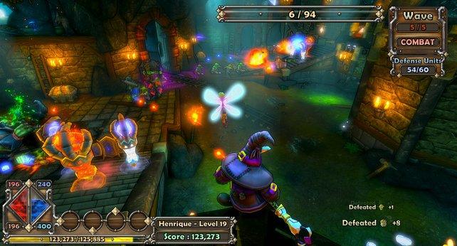 Die Farben mögen noch so schrill sein, spielerisch kann Dungeon Defenders schwer punkten.