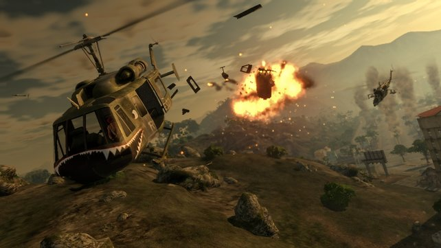 "Triste Landschaft, hübsche Explosionen, willkommen bei ""Mercenaries 2""."