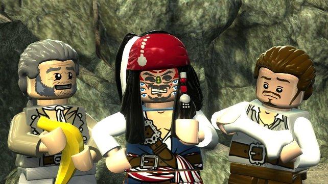 Die Lego-Figuren setzen sich mit lustigen Gesten in Szene.