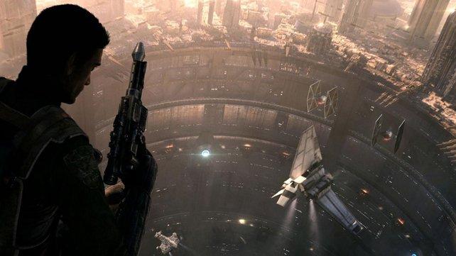 Coruscant ist eine riesige Stadt. Inwieweit sie in Star Wars 1313 begehbar sein wird, ist noch nicht bekannt.
