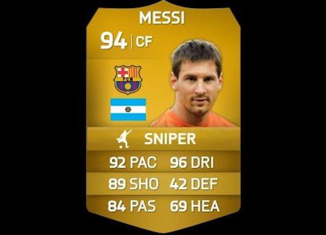 Auch Scharfschützen wie Messi könnt ihr umschulen.