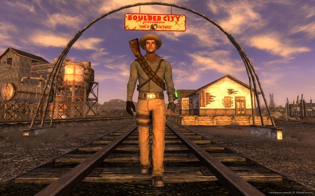 Fallout New Vegas beginnt zwar nicht in der Glitzermetropole, doch der Weg führt schnell in die Stadt der Sünde.