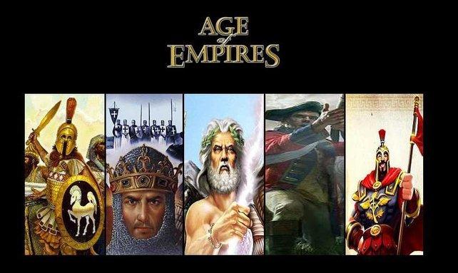 Die Serie im Überblick. Links geht es los mit Age of Empires 1.