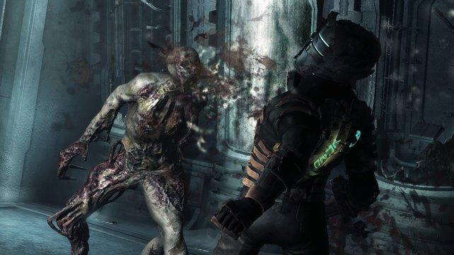 Die Necromorph reißen euch in kleine Stücke, wenn ihr nicht aufpasst.