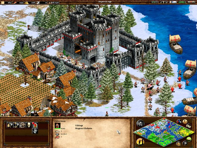 Im Mittelalter gibt es Festungen in Age of Empires 2.
