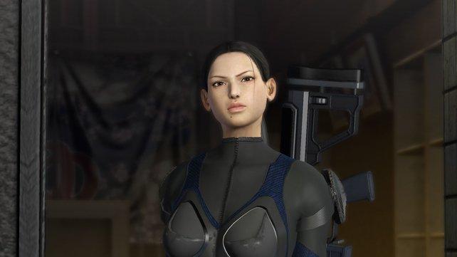 Scharfschützin Faye ist anfangs wenig von euch begeistert. Mit der Zeit taut sie aber auf.