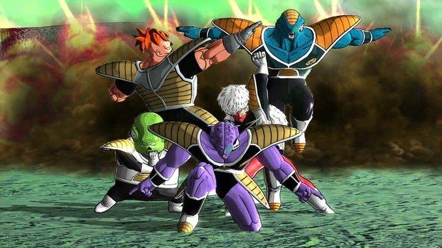 Freezer hetzt euch die Ginyu-Gruppe auf den Hals. Die Jungs sehen albern aus, sind aber extrem gefährlich.