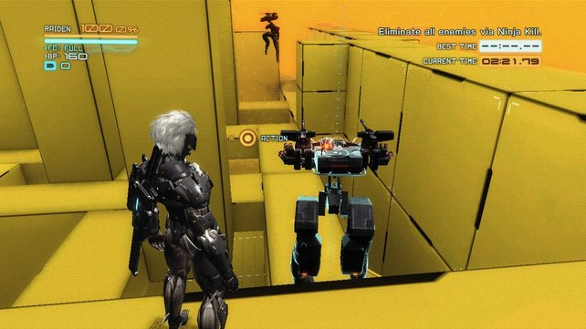 In den VR-Missionen übt ihr den Umgang mit Waffen und Fähigkeiten.