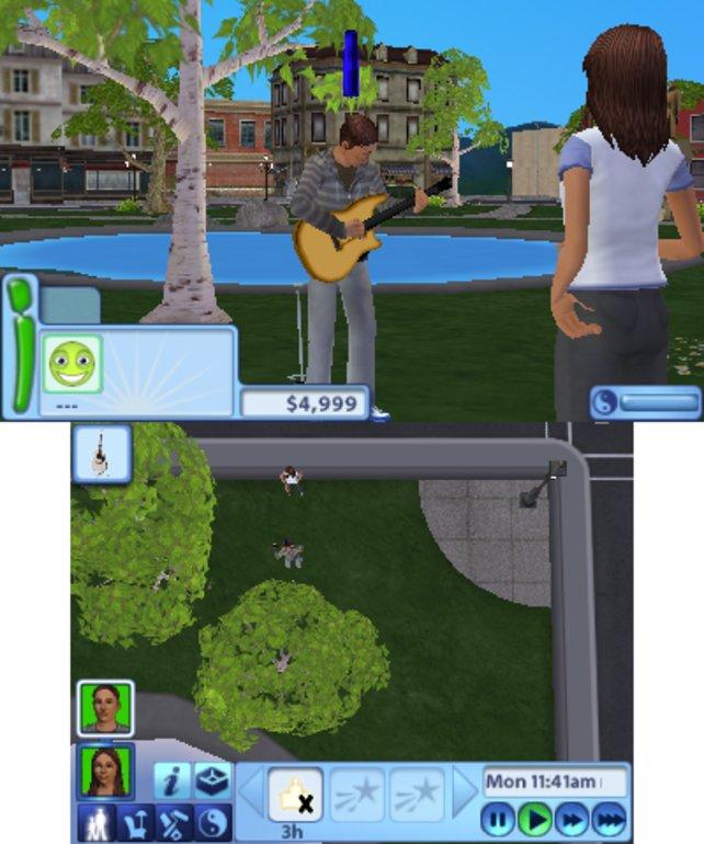 Auch die Sims haben nichts gegen einen kurzen Ausflug in den Park einzuwenden.