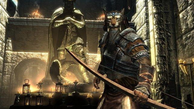 Merkwürdige Gestalten lungern im Tempel des Talos.