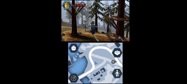 Lego City wirkt zwar oft wie ausgestorben, ist aber genauso groß wie auf Wii U.