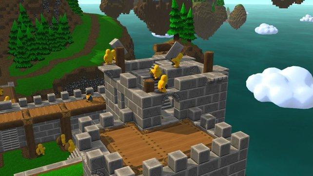 Jeder Minecraft-Freund dürfte sich in Castle Story wohlfühlen.