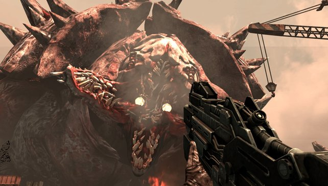 Kämpfe gegen riesige Gegner sind die Ausnahme in Burning Skies.