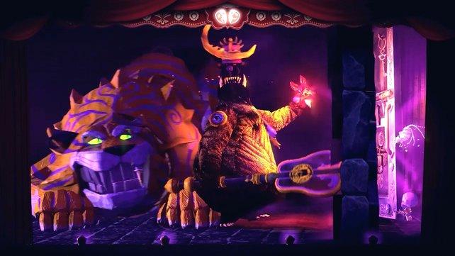 Später im Spiel kämpft ihr mit eurem winzigen Kotaru gegen den scheinbar übermächtigen Tiger - die rechte Hand des Mondbärenkönigs.