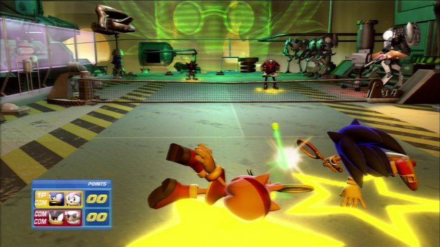 Munteres Doppel mit Sonic, das Spieltempo ist schön hoch.