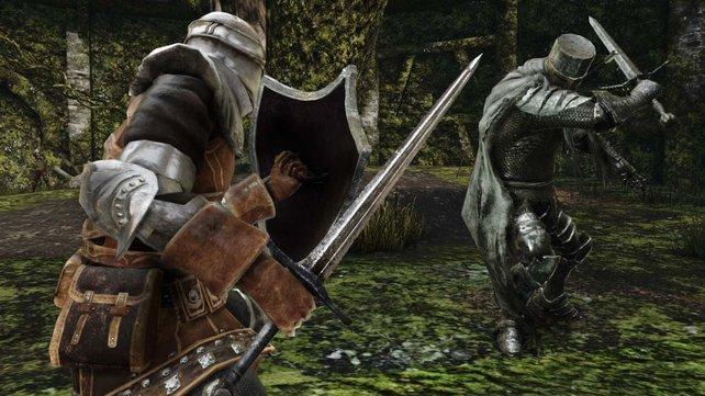 Als Ritter seid ihr mit Schild und Schwert bewaffnet. Es gibt aber noch unzählige andere Charakterklassen mit ausbaubaren Spezialfähigkeiten.