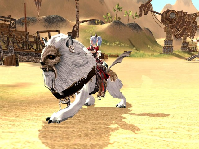 Auch Pferde, Bestien und andere Kreaturen lassen sich als Fortbewegungsmittel nutzen