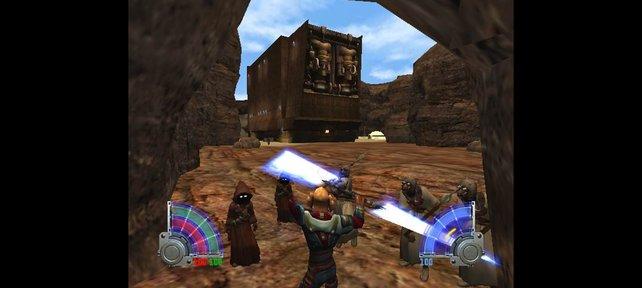 In der Jedi-Knight-Serie nutzt ihr die Macht und das Lichtschwert.