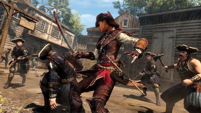 Im Assassinen-Dress kämpft Aveline mit Abstand am Besten.