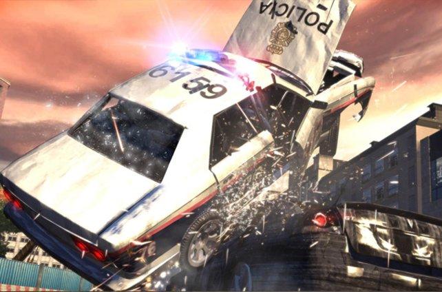 Solche Crashs sind für unseren Diesel-Klon keine Seltenheit.