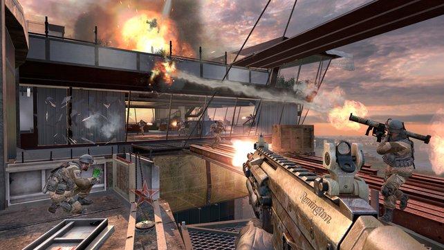 Seit Februar 2012 erhältlich ist die auf einem Wolkenkratzer spielende Overwatch-Karte.