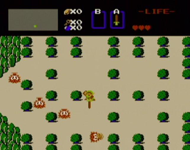 """Eine der anspielbaren Meisterstücke ist die Demo von """"The Legend of Zelda"""" (1987, NES)"""