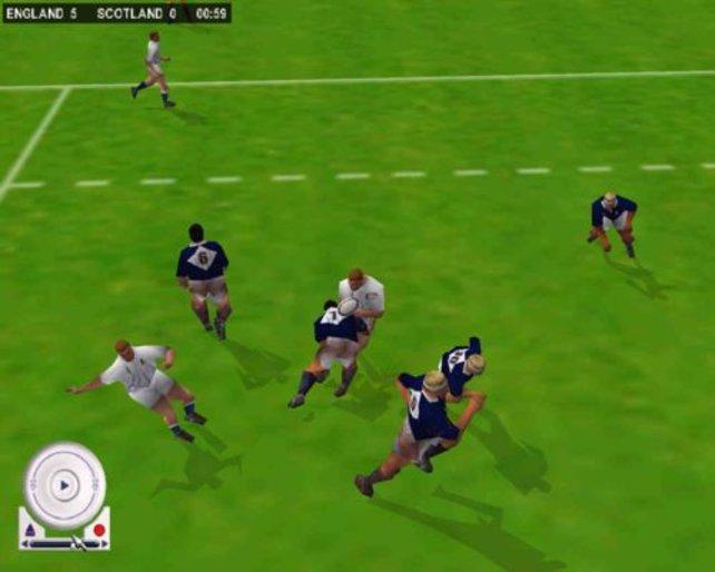 Ein Schotte stellt seinen Gegner.