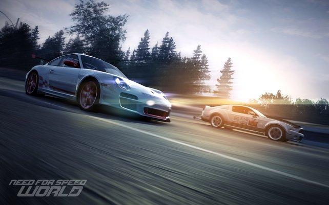 Rasante Fahr-Action im kostenfreien Need for Speed: World.