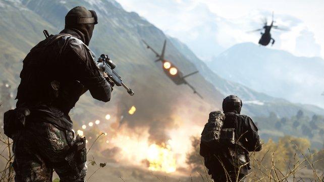 Helikopter, Panzer und Düsenjets. Battlefield 4 ist da!