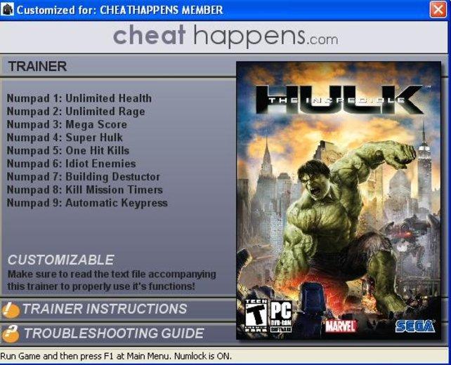 The Incredible Hulk - Trainer | spieletipps