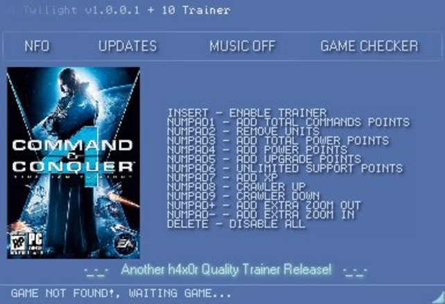 command and conquer 4 cheat codes