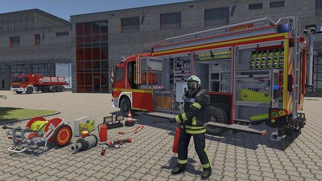 Die Ausrüstung des Feuerwehr-Einsatzwagens wurde bis ins kleinste Detail nachgebildet.