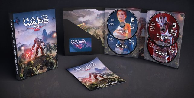 Schöne Verpackung und viele Disks: Das ist die Halo Wars 2 - Standard Edition.