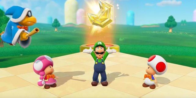 Luigi hat sich ein Juwel geschnappt – fehlen nur noch vier.