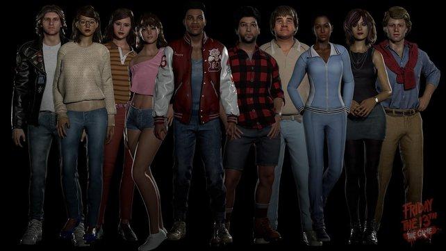 Das sind alle Teenager, die ihr im Spiel auswählen könnt.
