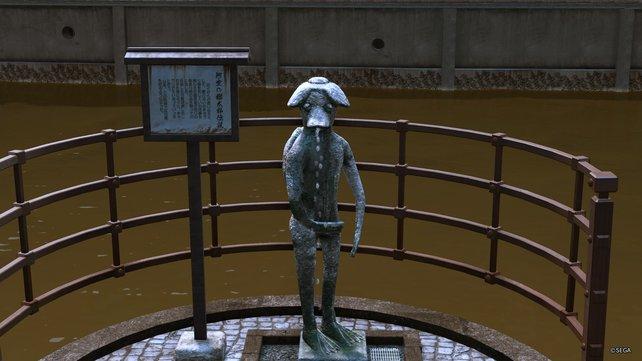 Diese süßen Kappas müsst ihr finden. Leider sind die verlorenen Kappas nicht so stabil wie diese Brunnenstatue und werden gerne durch Ijincho getragen.
