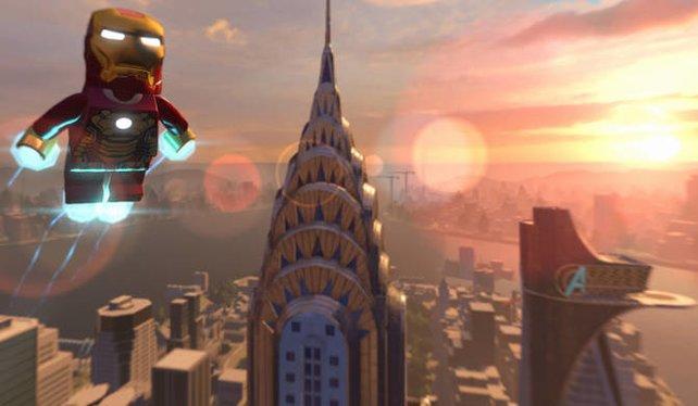 Gechillt durch die offen Welt schweben, mit Iron Man kein Problem.