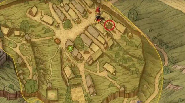 Begebt euch an den markierten Punkt auf der Karte in Skalitz. Unter dem Taubenschlag findet ihr den Schatz von Kunesch.