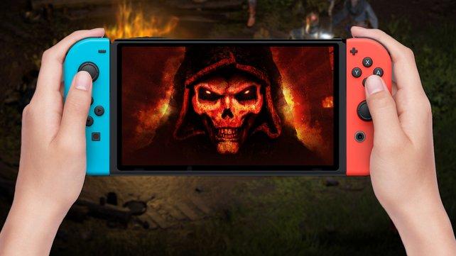 Auf der Nintendo Switch fallen die Abenteuergruppen von Diablo 2: Resurrected deutlich kleiner aus.