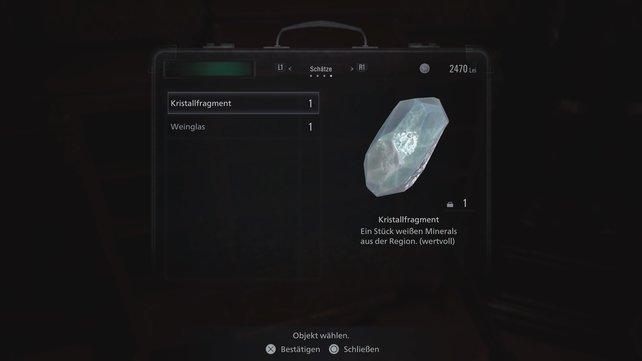 So sehen die Kristallfragmente aus.