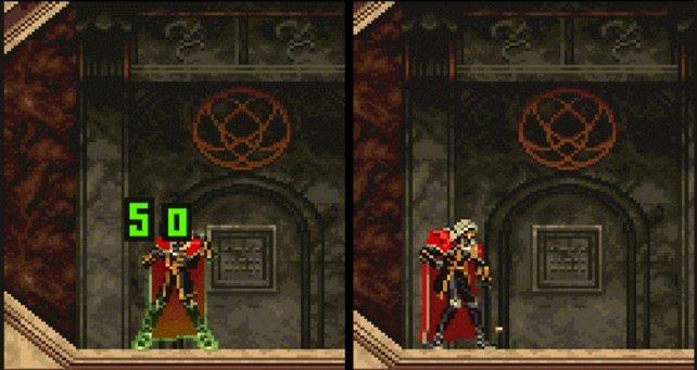Links: Alucard hat die Erdnuss erwischt. Rechts: Die Nuss ging daneben und kommt vor seinem Stiefel auf.