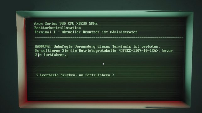 Der Computerbildschirm sieht den Monitoren der Fallout-Terminals zum Verwechseln ähnlich.