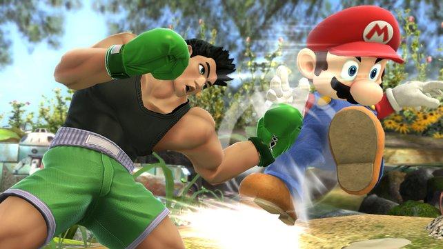 Profiboxer Little Mac teilt unaufhaltsame Kinnhaken aus. Selbst Mario guckt dumm aus der Wäsche.
